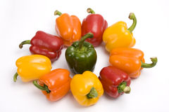 Colorful sweet peppers. Royalty Free Stock Image