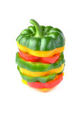 Colorful sweet peppers Royalty Free Stock Images