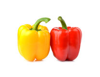 Colorful sweet peppers on white background. Colorful sweet peppers isolated on white background Royalty Free Stock Photos