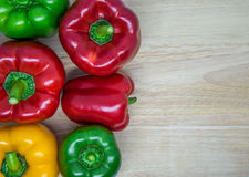 Colorful sweet peppers Royalty Free Stock Image