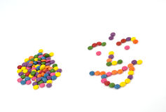 Colorful sweet smarties Royalty Free Stock Photography