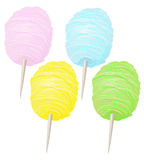 Colorful Sweet Soft Cotton Candy Collection Stock Photos