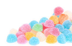 Colorful sweetness jelly candy isolated Stock Photography