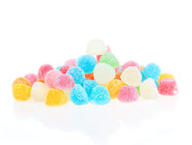 Colorful sweetness jelly candy isolated Royalty Free Stock Photography