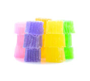 Colorful sweetness jelly in thailand Royalty Free Stock Image