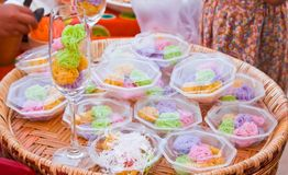 Colorful sweetness Thai dessert Stock Images