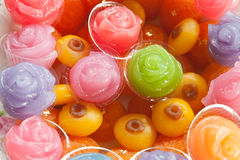 Colorful sweetness Thai dessert Stock Photo