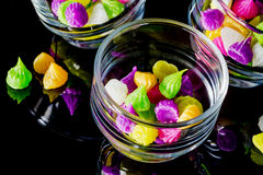Colorful sweetness Thai style dessert Stock Images