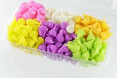 Colorful Sweetness Thai Style Dessert Royalty Free Stock Image