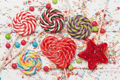 Colorful sweets Royalty Free Stock Photo