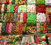 Colorful sweets. Ornamental arrangement of colorful sweets Stock Image