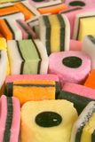 Colorful sweets. Sweets in all colors and shapes stock image