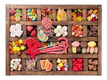 Colorful sweets box Stock Photos