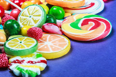Colorful sweets and candies Stock Photography