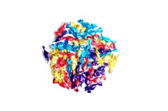 Colorful Sweets. A circle of small foil wrapped sweets or candies Stock Photography