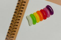 Jellybeans. Colorful sweets closeup multicolors Royalty Free Stock Photography