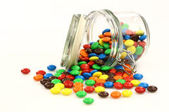 Colorful sweets in a glass jar Royalty Free Stock Image