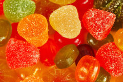 Colorful sweets and jelly close up Stock Photos