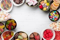 Colorful sweets. Lollipops and candies Royalty Free Stock Image