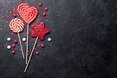 Colorful sweets Stock Photos