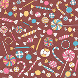 Colorful Sweets Seamless Pattern Stock Photos