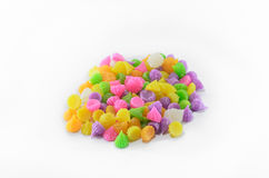 Colorful sweets were laid out Stock Photo