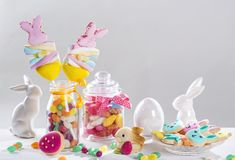 Colorful sweets. On a white background Stock Images