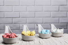 Colorful Sweets And White Royalty Free Stock Images