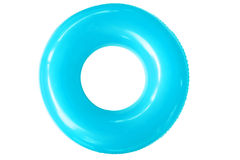 Colorful swim ring on white background. The swim ring was derived from the inner tube, the inner, enclosed, inflatable part of older vehicle tires Royalty Free Stock Image
