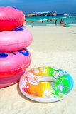 Colorful swim ring Royalty Free Stock Photos