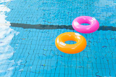 Colorful swimming pool rings Royalty Free Stock Image