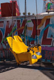 Colorful swing carousel carnival chair ride Stock Photography