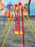 Colorful swing at the playground. In Lviv Royalty Free Stock Image