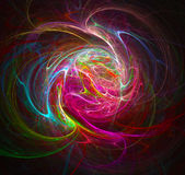 Colorful Swirl. Colorful strings of light create a multicolored swirl design Stock Photography