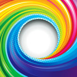 Colorful Swirl. Abstract colorful swirl circle background stock illustration