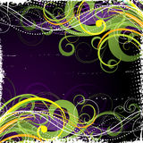 Colorful swirl background. A colorful background with swirls in yellow and green