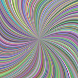 Colorful swirl background from curved spiral rays. Abstract colorful swirl background from curved spiral ray stripes - vector graphic Stock Illustration