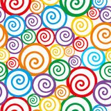 Colorful swirl background. Seamless pattern. Vector illustration Royalty Free Stock Photos