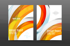 Colorful swirl design annual report cover template Royalty Free Stock Image
