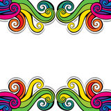 Colorful swirl design background Royalty Free Stock Photography