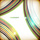 Colorful swirl lines abstract background Stock Images