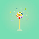 Colorful swirl lollipop on  background Royalty Free Stock Photography