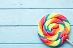 Colorful swirl lollipop Stock Photography