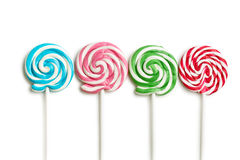 Colorful swirl lollipop Stock Photo