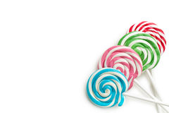 Colorful swirl lollipop Stock Images