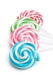 Colorful swirl lollipop Stock Image