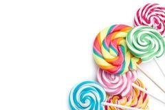Colorful swirl lollipop Royalty Free Stock Photo