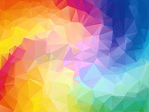 Colorful Swirl Rainbow Polygon Background. Colorful Abstract Vector. Abstract Rainbow Color Triangle Geometrical Royalty Free Stock Image