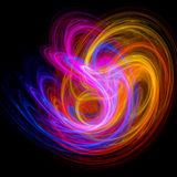 Colorful swirl rays Stock Photography