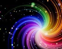 Colorful swirl rays Stock Photos